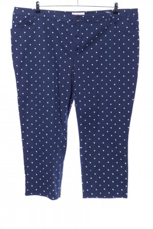Sheego Low Rise Jeans blue-white spot pattern casual look