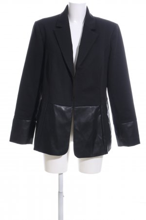 Sheego Blazer in jersey nero stile professionale