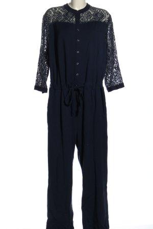 Sheego Jumpsuit blau Casual-Look