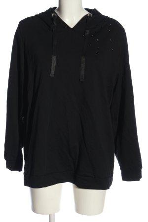 Sheego Hooded Sweatshirt black casual look