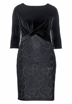 sheego Kleid mit floraler Spitze. Gr: 54