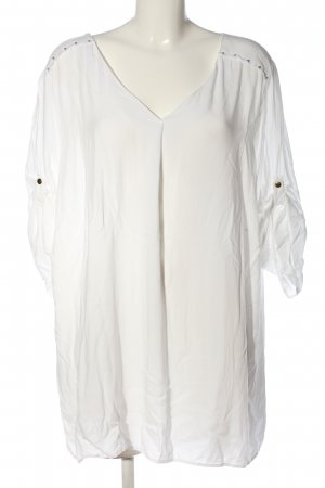 Sheego Lange blouse wit casual uitstraling
