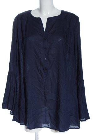 Sheego Camicetta a maniche lunghe blu elegante