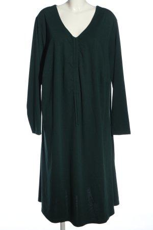 Sheego Langarmkleid grün Casual-Look