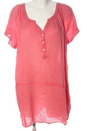 Sheego Camicetta lunga rosa stile casual