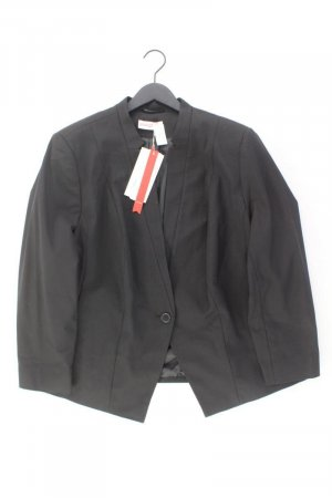 Sheego Blazer lungo nero Cotone