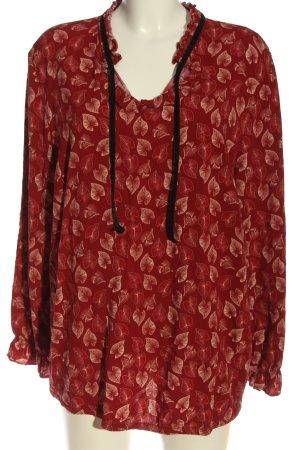 Sheego Manica lunga rosso-bianco sporco motivo astratto elegante