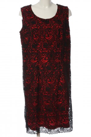 Sheego Minikleid schwarz-rot Casual-Look