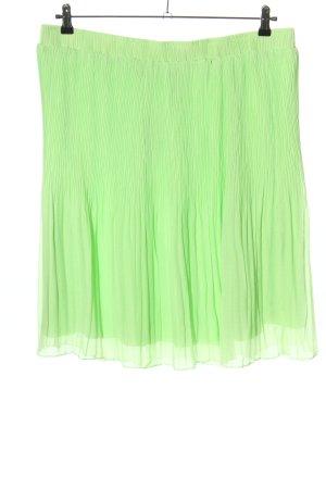 Sheego Pleated Skirt green casual look