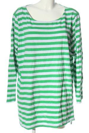 Sheego Maglietta a righe verde-bianco stile casual