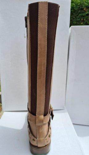 Sheego Stivale largo al polpaccio marrone-grigio-marrone chiaro Pelle