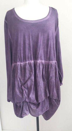Sheego Camicetta a maniche lunghe viola scuro Cotone