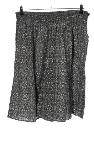 Sheego Shorts hellgrau-weiß abstraktes Muster Casual-Look