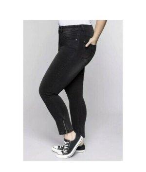 Sheego Skinny Power-Stretch-Jeans in Knöchellänge Schwarz Denim Gr. 48 Neu