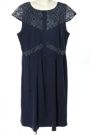 Sheego Spitzenkleid blau-weiß Elegant