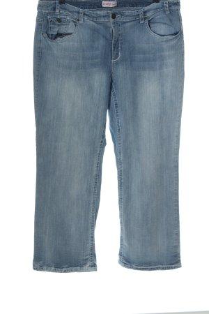 Sheego Straight-Leg Jeans blau Casual-Look