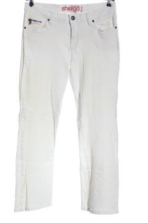 Sheego Jeans a gamba dritta bianco stile casual
