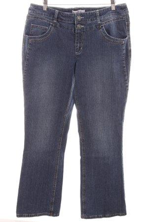 Sheego Straight-Leg Jeans dunkelblau Casual-Look