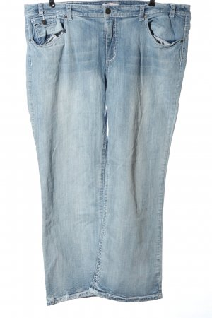 Sheego Jeans a gamba dritta blu stile casual