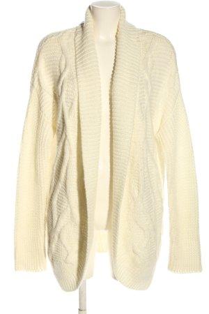 Sheego Cardigan in maglia crema punto treccia stile casual