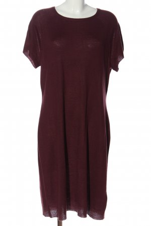 Sheego Strickkleid rot Casual-Look