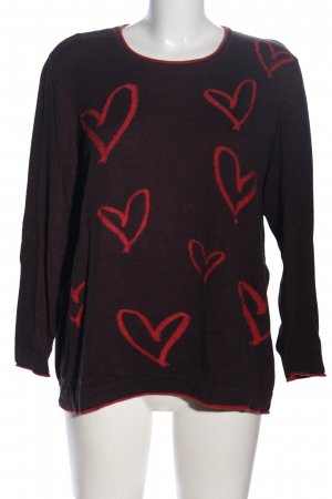 Sheego Strickpullover braun-rot meliert Casual-Look