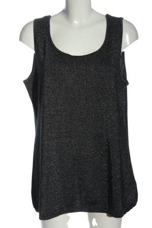 Sheego Top lavorato a maglia nero-argento puntinato stile casual