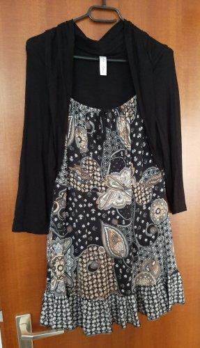 Sheego Style Tunika 2 in 1 Optik Minikleid Mini Kleid Bluse Shirt Bolero Jäckchen