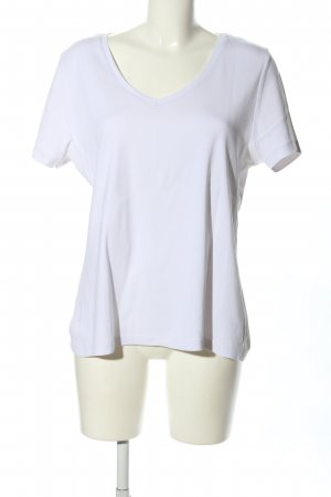 Sheego T-Shirt weiß Casual-Look