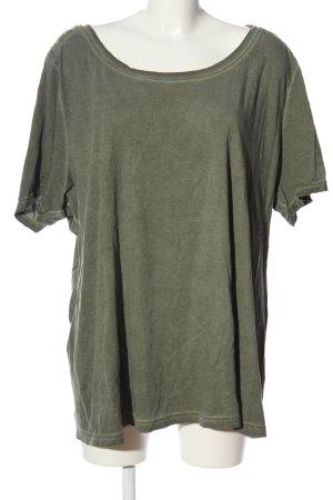 Sheego U-Boot-Shirt khaki Casual-Look