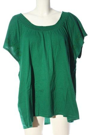 Sheego U-Boot-Shirt grün Casual-Look