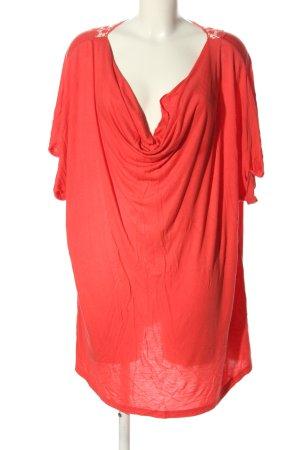 Sheego Wasserfallshirt rot Casual-Look