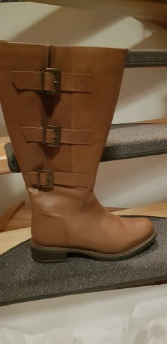 Sheego Wide Calf Boots light brown-cognac-coloured