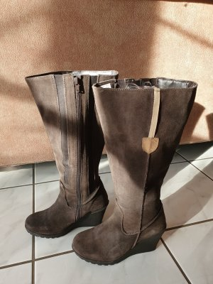 Sheego Wide Calf Boots bronze-colored leather