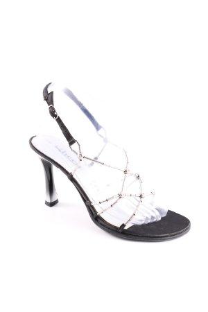 Sheen Riemchen-Sandaletten schwarz-silberfarben Elegant