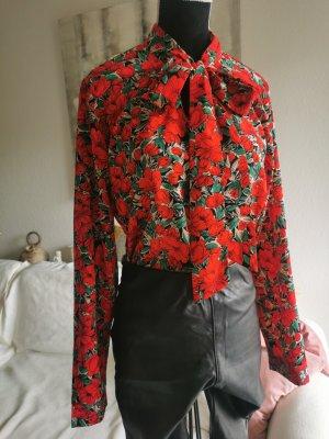Shein 34 Bluse, Blumenmuster, bunt