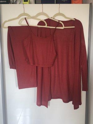 SheIn Twin Set tipo suéter dark red