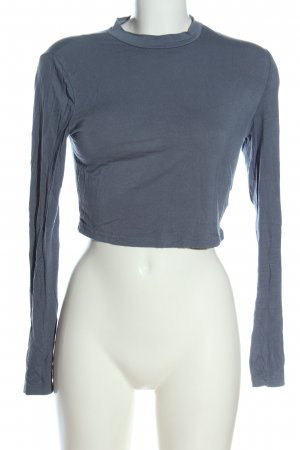 SheIn Basic-Shirt blau Casual-Look