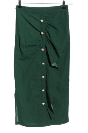 SheIn Falda de tubo verde elegante