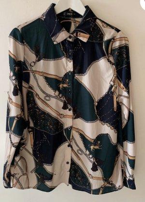 Shein Bluse Muster Blogger Style Größe L