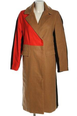 SheIn Abrigo de piloto marrón-rojo look casual