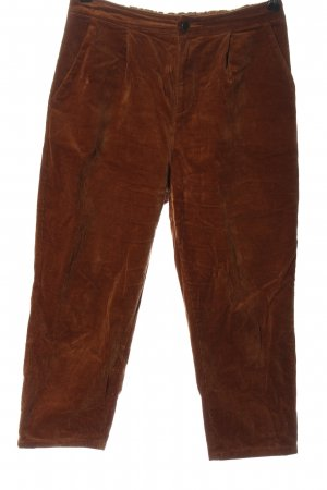SheIn Corduroy Trousers brown casual look