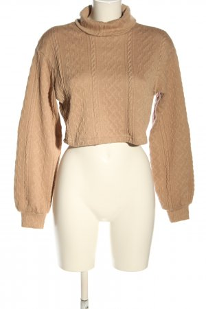 SheIn Cropped Pullover nude Casual-Look
