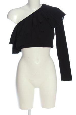 SheIn Cropped Shirt schwarz Casual-Look