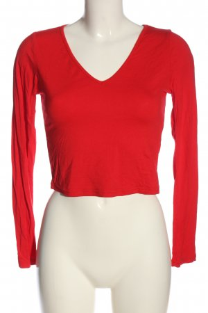 SheIn Cropped Shirt rot Casual-Look