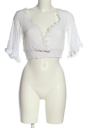 SheIn Cropped Shirt weiß Casual-Look
