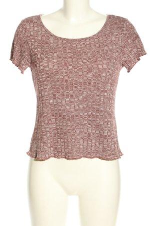 SheIn Cropped shirt rood-wit kleurverloop casual uitstraling