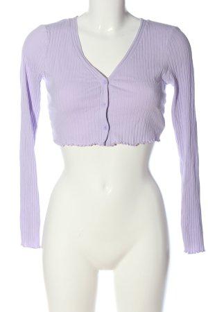SheIn Cropped Shirt lila Casual-Look