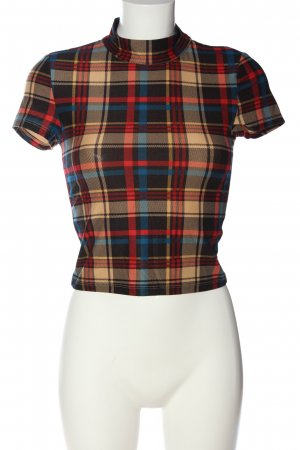 SheIn Cropped Shirt Karomuster Casual-Look
