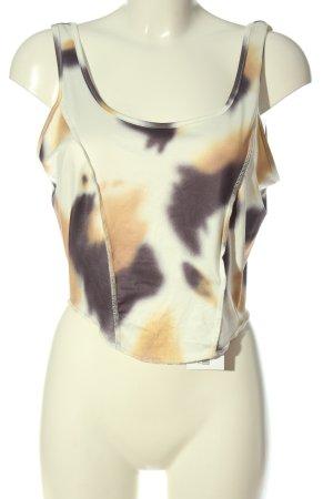 SheIn Top recortado estampado con diseño abstracto elegante